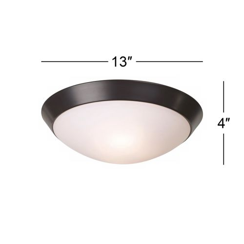 "Davis 13"" Wide Oil-Rubbed Bronze Ceiling Light Fixture"