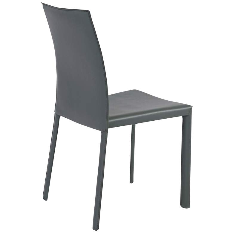 Hasina Gray Regenerated Leather Steel Side Chair Set of 4 more views