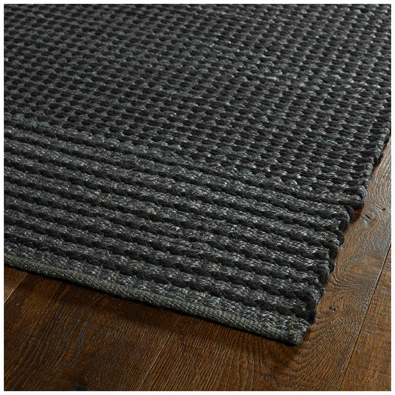 "Kaleen Colinas COL01-38 5' x 7'6"" Charcoal Area Rug more views"