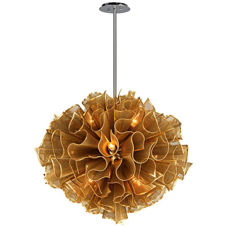 "Corbett Pulse 30 1/2"" Wide Gold Leaf Pendant Light more views"