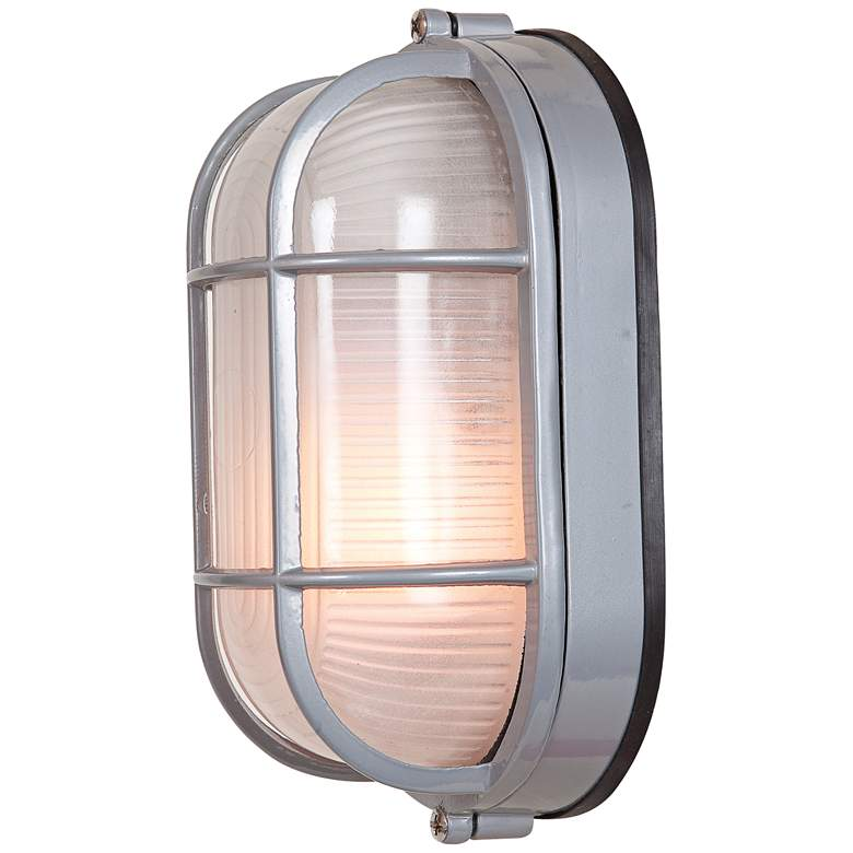 "Nauticus 6 1/2"" High Satin LED Outdoor Wall Light more views"