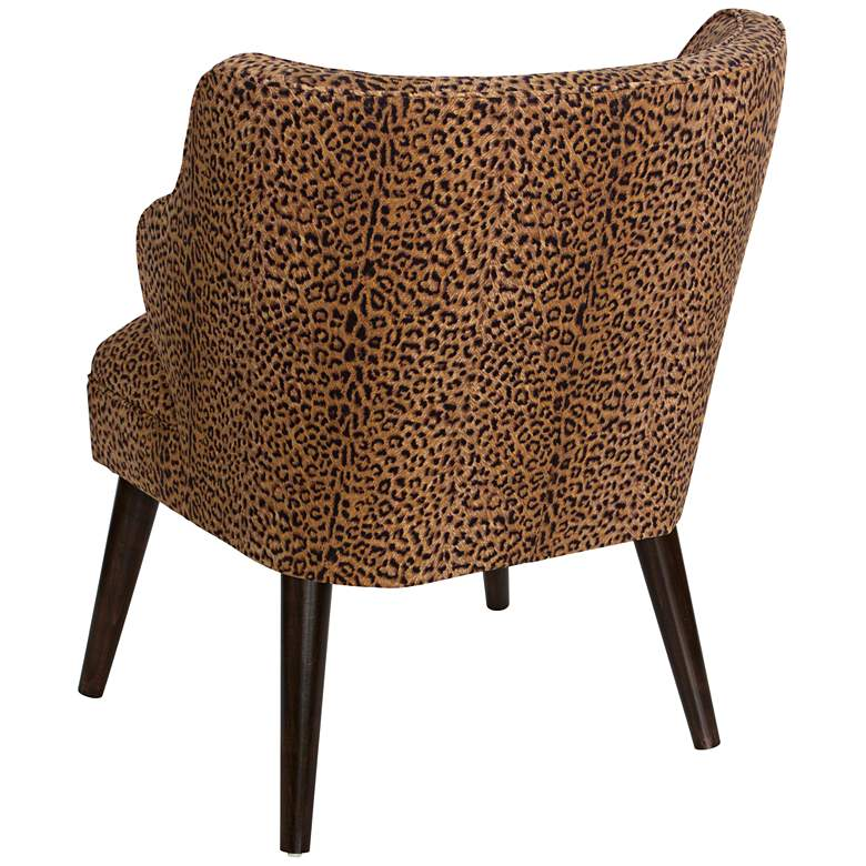 T-bird Cheetah Earth Fabric Armchair more views