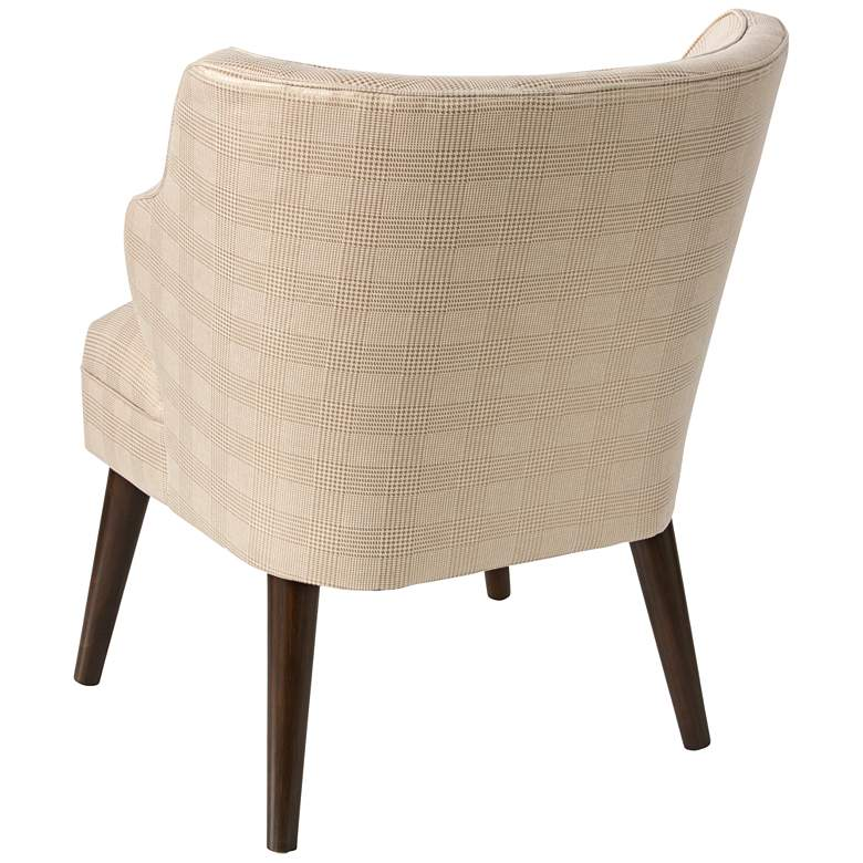 T-bird Polished Gold Fabric Armchair more views
