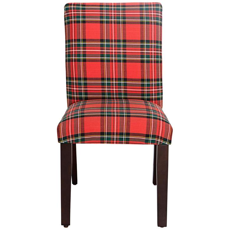 Main Street Ancient Stewart Red Fabric Dining Chair more views