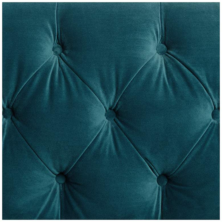 "Brianna 88 1/2"" Wide Teal Blue Tufted Velvet Sofa more views"