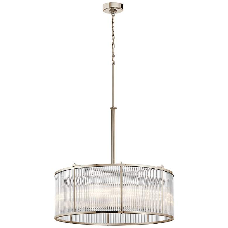 "Kichler Artina 32""W Polished Nickel 8-Light Round Pendant more views"