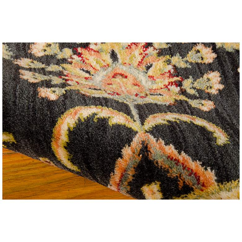 "Kathy Ireland Ancient Times BAB01 5'3""x7'5"" Black Rug more views"