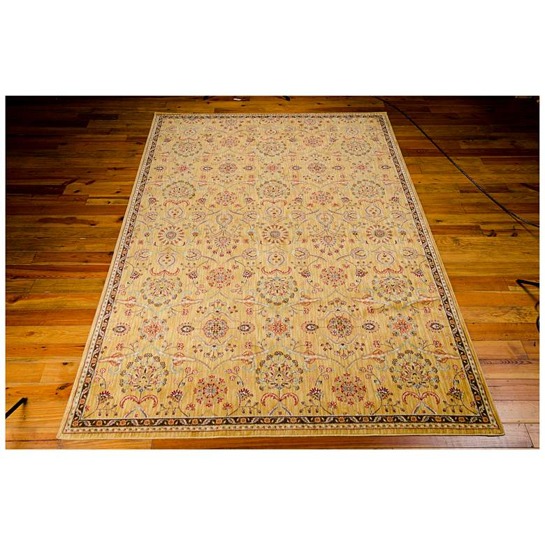 "Kathy Ireland Ancient Times BAB01 5'3""x7'5"" Gold Rug more views"