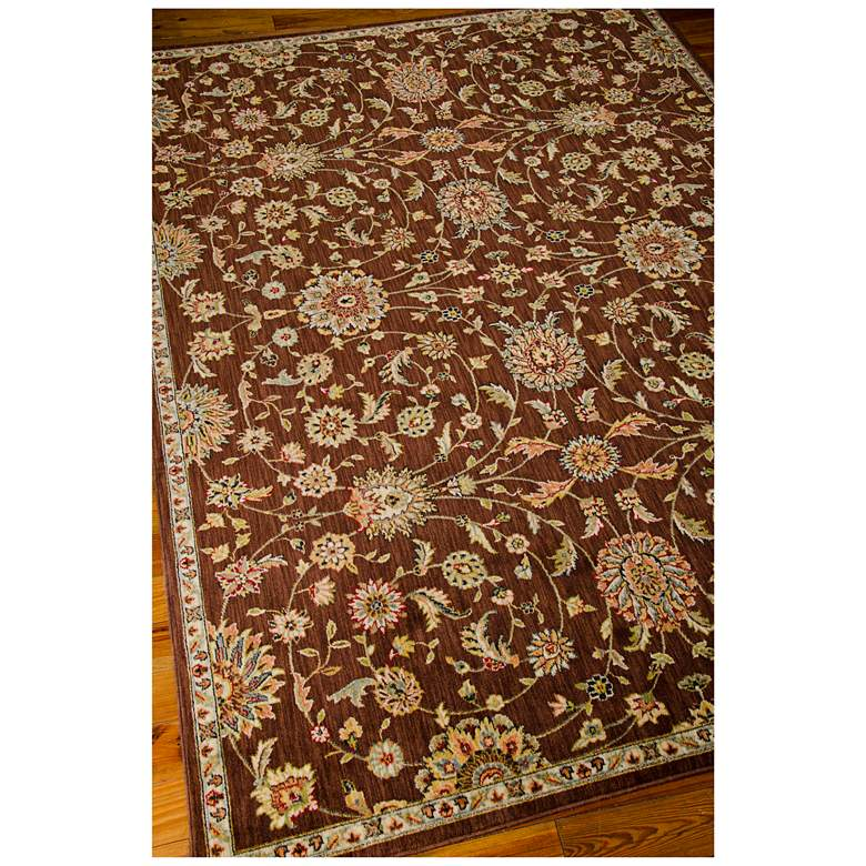 "Kathy Ireland Ancient Times BAB05 5'3""x7'5"" Brown Rug more views"
