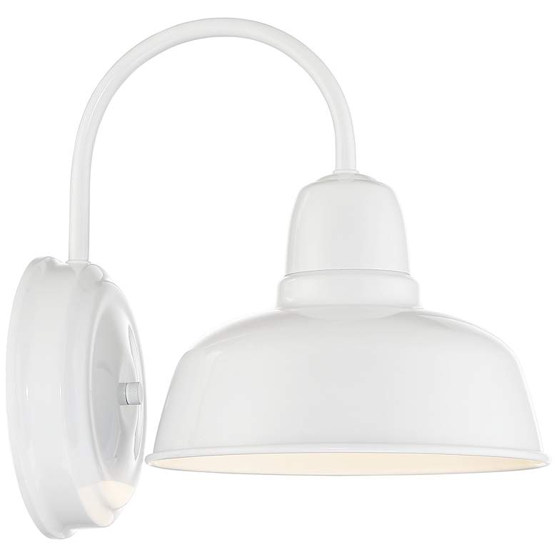 "Urban Barn 11 1/4"" High White Indoor-Outdoor Wall Light more views"