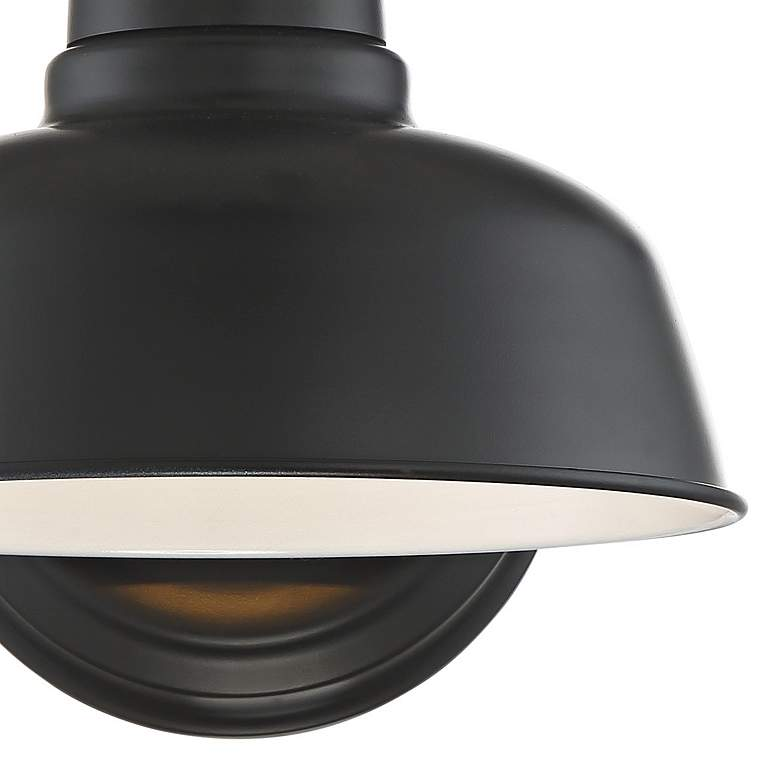 "Urban Barn 11 1/4"" High Black Indoor-Outdoor Wall Light more views"