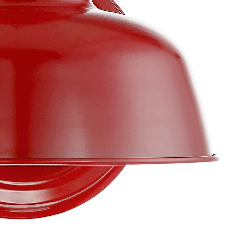 "Urban Barn 11 1/4"" High Red Indoor-Outdoor Wall Light more views"