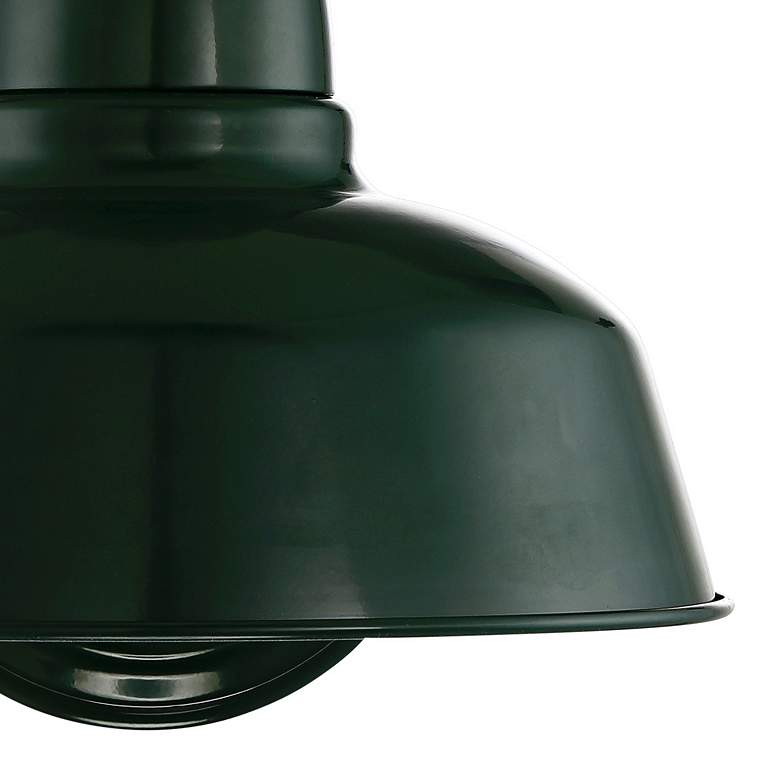 "Urban Barn Collection 13"" High Green Outdoor Wall Light more views"