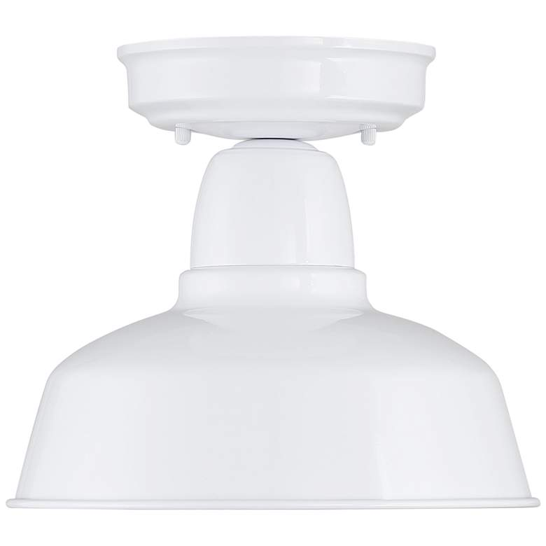 "Urban Barn 10 1/4"" Wide White Outdoor Ceiling Light more views"