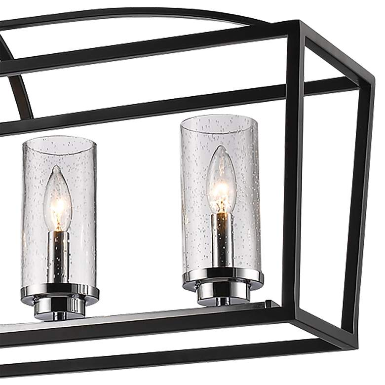 "Mercer 38 1/4""W Black Open Cage 5-Light Linear Chandelier more views"