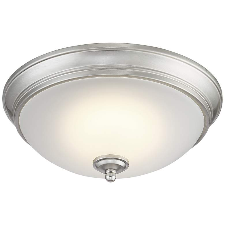 "Melana 10 3/4"" Wide Brushed Nickel LED Ceiling Light more views"