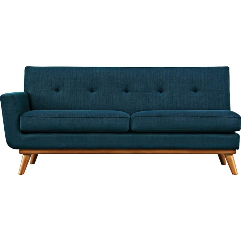 "Engage 67"" Wide Azure Blue Fabric Tufted Left-Arm Loveseat more views"