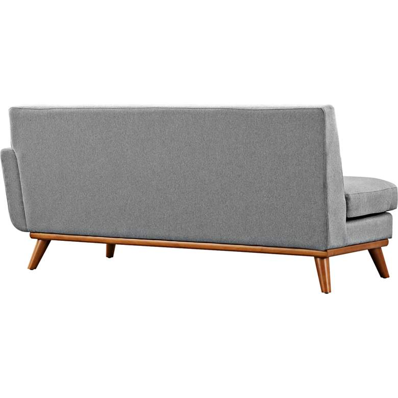 "Engage 67"" Wide Gray Fabric Tufted Right-Arm Loveseat more views"