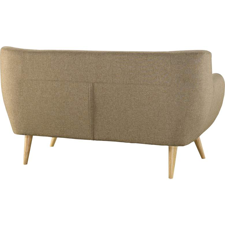 "Remark 61 1/2"" Wide Brown Fabric Tufted Loveseat more views"