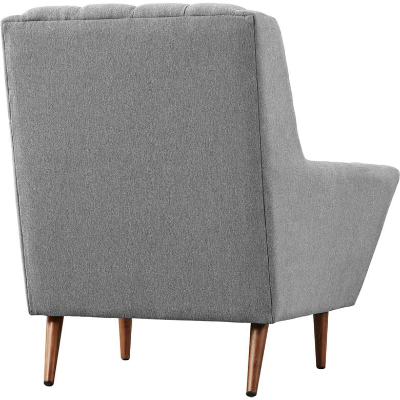Response Expectation Gray Fabric Tufted Armchair more views