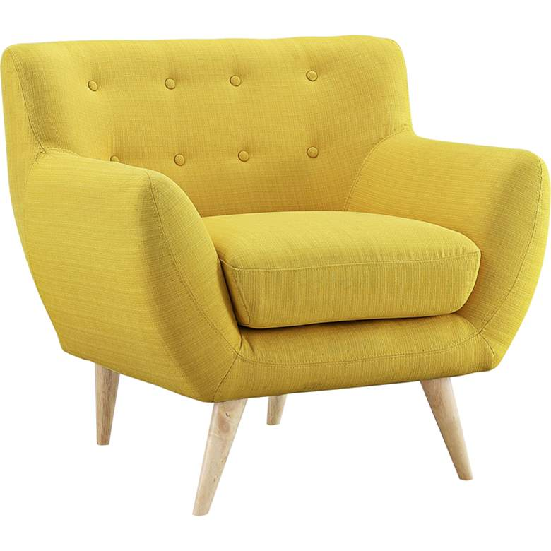 Remark Sunny Fabric Tufted Armchair more views