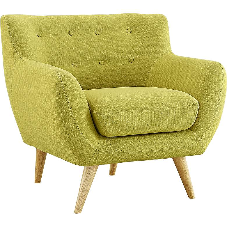 Remark Wheatgrass Fabric Tufted Armchair more views