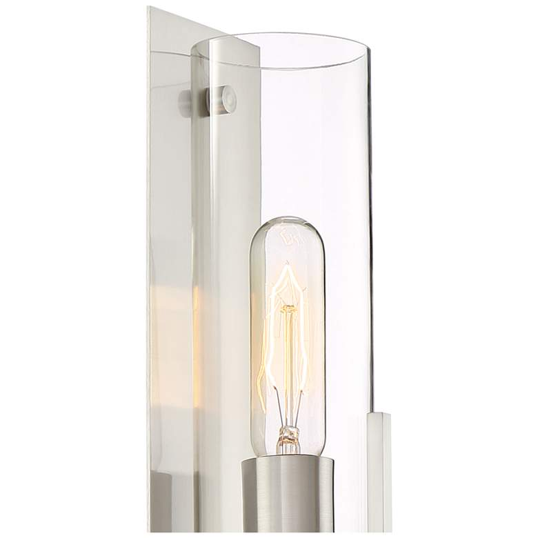 "Possini Euro Pax 15"" High Brushed Nickel Wall Sconce more views"