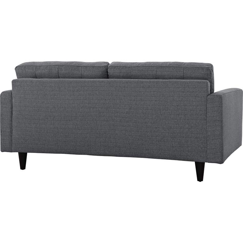 Empress Gray Fabric Tufted Loveseat more views