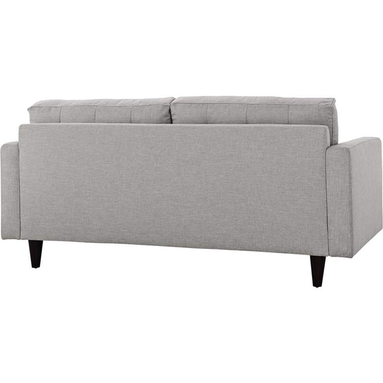 Empress Light Gray Fabric Tufted Loveseat more views