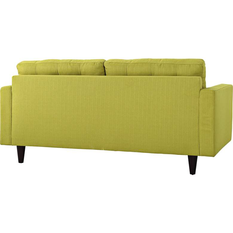 Empress Wheatgrass Fabric Tufted Loveseat more views