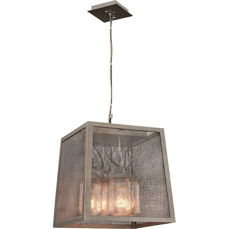 "Highland 14"" Wide Hand-Forged Country Iron Pendant Light more views"