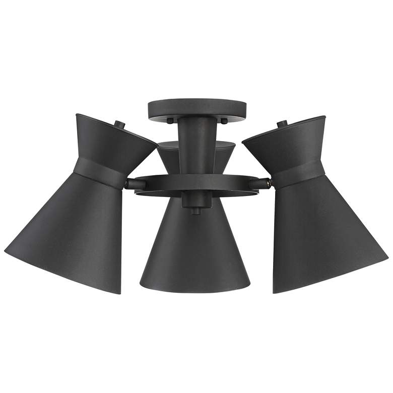 "Vance 18"" Wide Black LED Outdoor Ceiling Light more views"