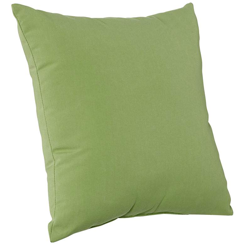 "Sunbrella Ginkgo Green 18"" Square Indoor-Outdoor Pillow more views"