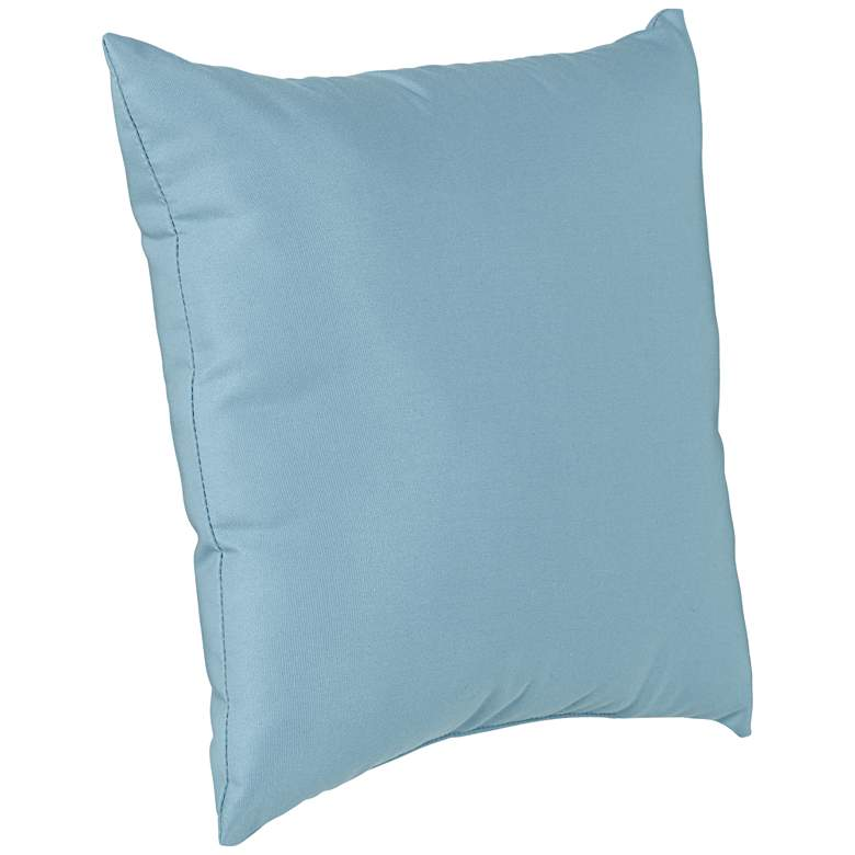 "Sunbrella Mineral Blue 18"" Square Indoor-Outdoor Pillow more views"