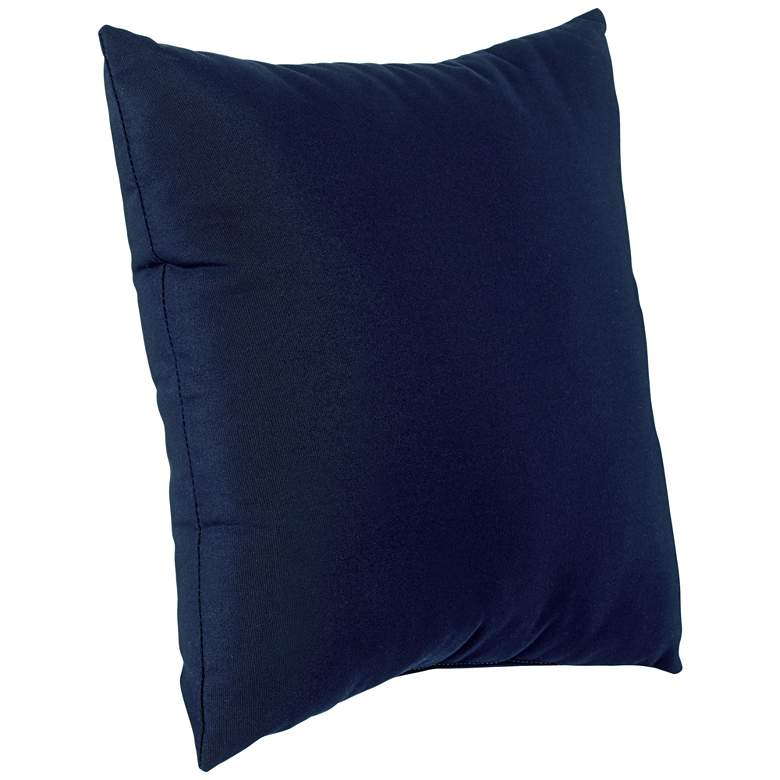 "Sunbrella Navy Blue Canvas 18"" Square Indoor-Outdoor Pillow more views"