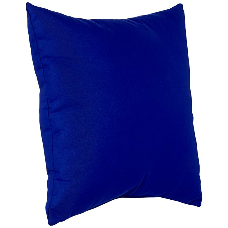 "Sunbrella True Blue Canvas 18"" Square Indoor-Outdoor Pillow more views"