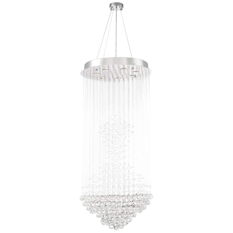 "Cita 25"" Wide Chrome and Crystal 7-Light Chandelier more views"