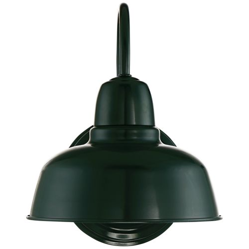 "Urban Barn 11 1/4"" High Green Indoor-Outdoor Wall Light"