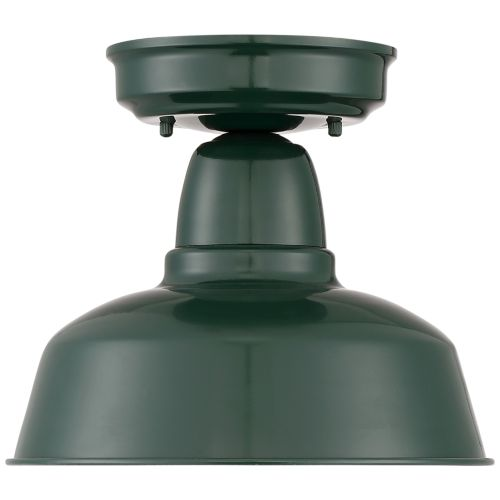 "Urban Barn 10 1/4"" Wide Green Outdoor Ceiling Light"