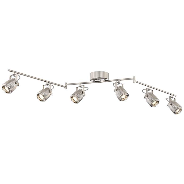 Pro Track Ripple 6-Light Satin Nickel LED Track Kit Light more views