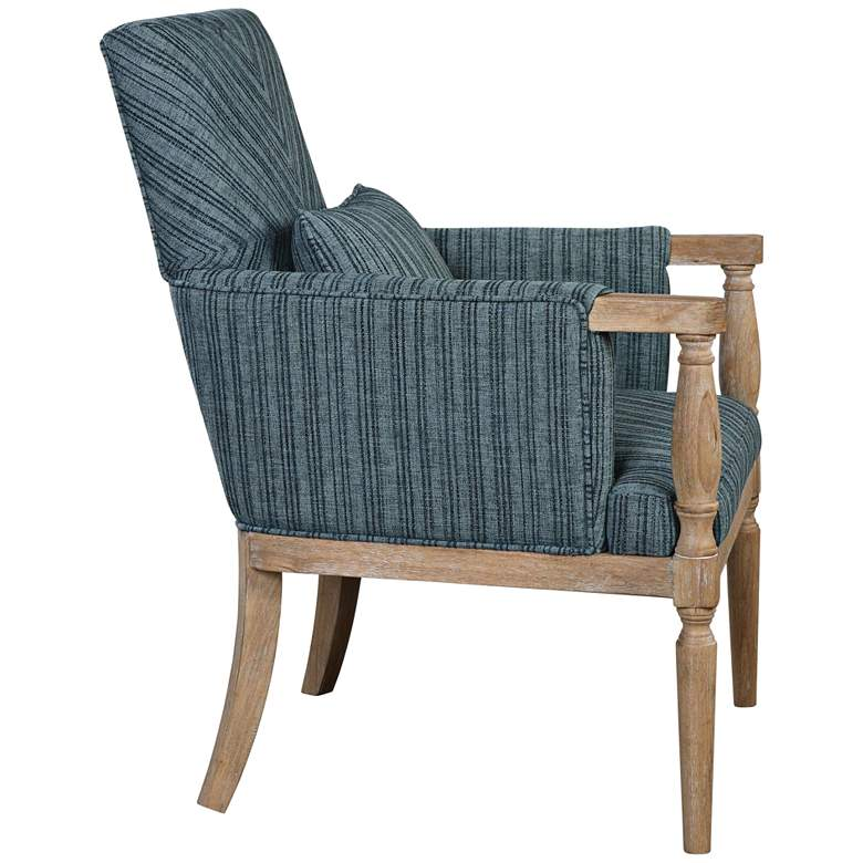 Uttermost Seamore Blue and Aqua Pattern Accent Armchair more views