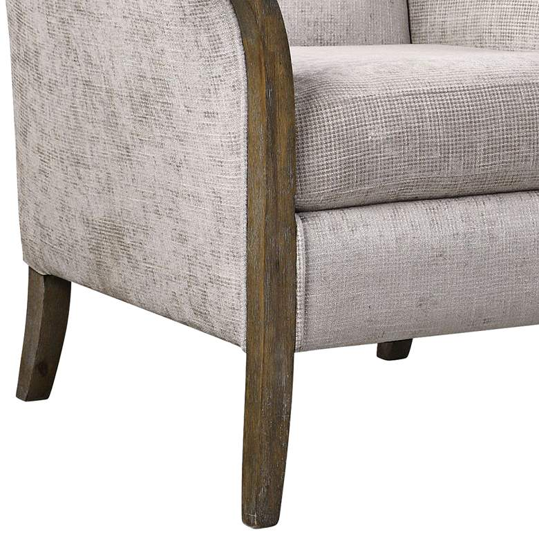 Uttermost Brittoney Taupe and Stone Accent Armchair more views