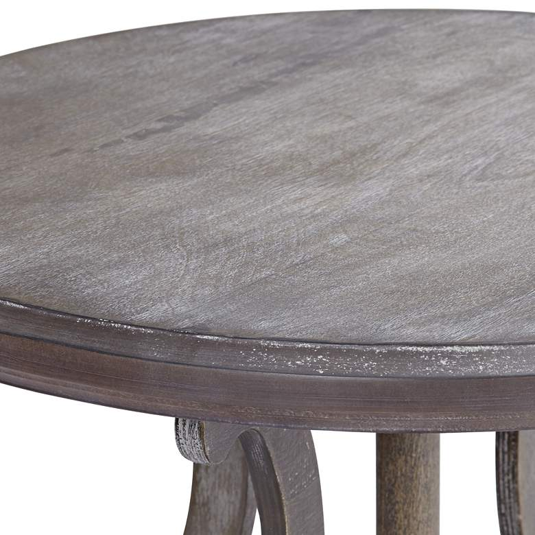 "Kensington 24"" Wide Burnished Oak Round Accent Table more views"