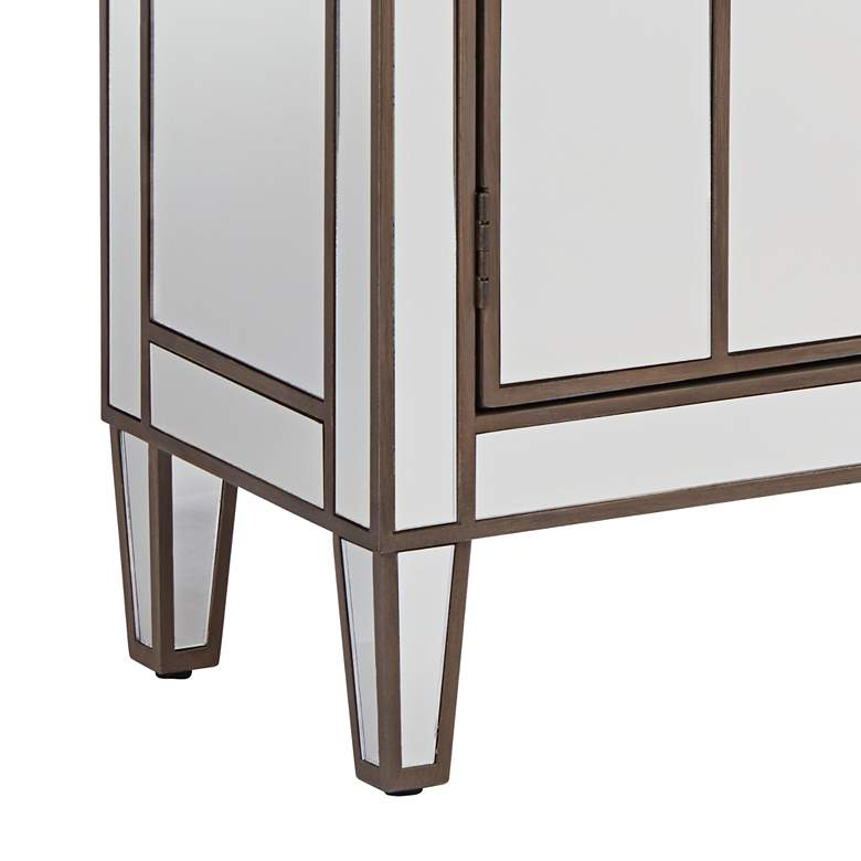 "Vicenta 60"" Wide 3-Drawer 4-Door Mirrored Console Chest more views"