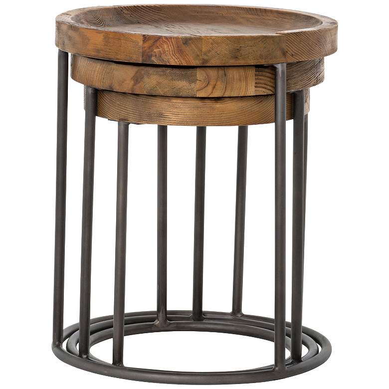 Tristan Bleached Wood Modern Accent Tables - 3-Piece Set more views