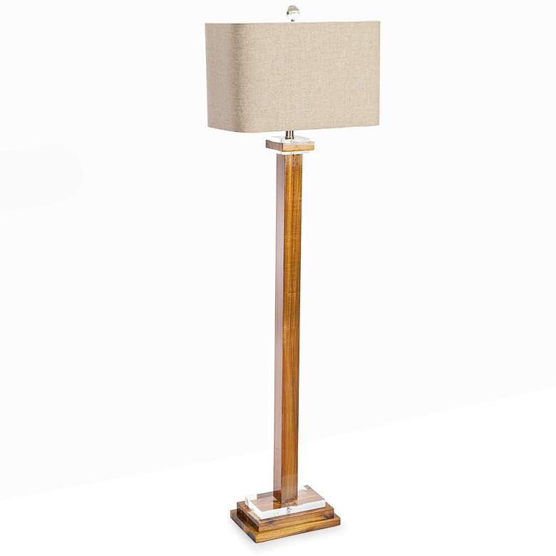 Couture Brentwood High Gloss Brown Stain Floor Lamp more views