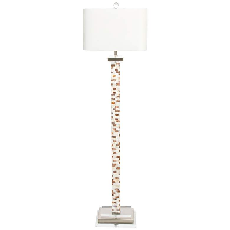 "Couture 66"" High Soho Mother of Pearl Floor Lamp more views"