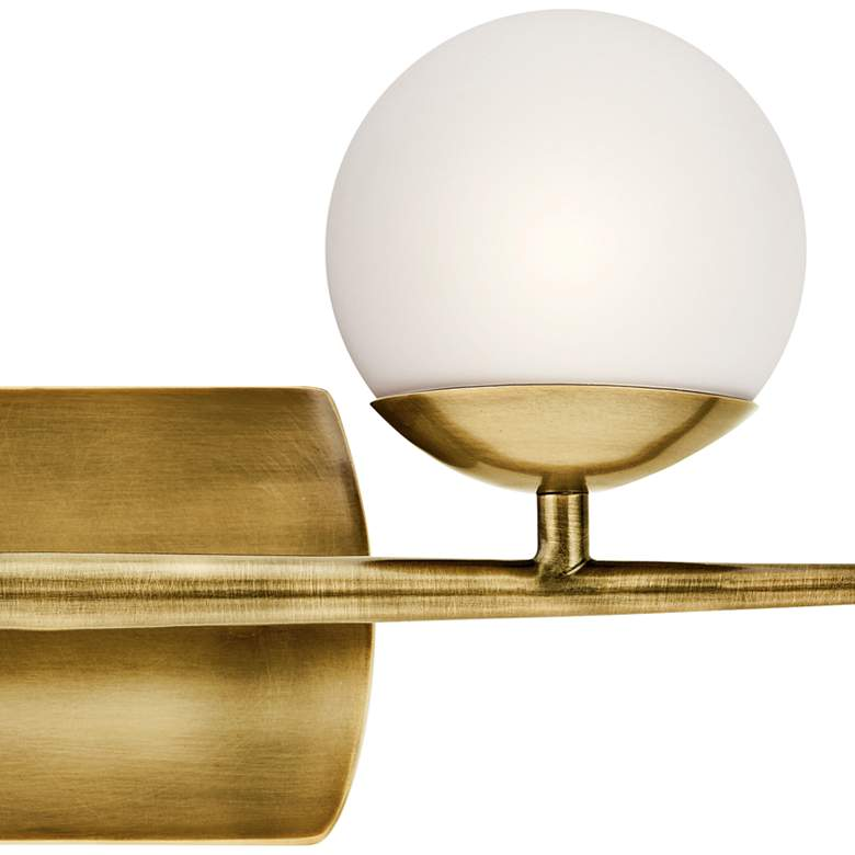 "Jasper 7 3/4"" High Natural Brass 2-Light Halogen Wall Sconce more views"