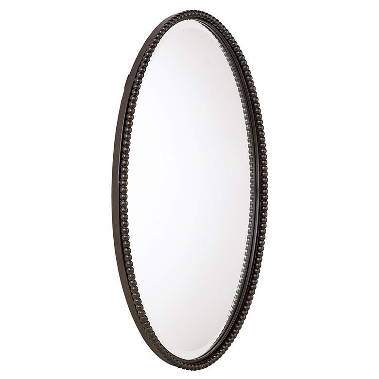 "Uttermost Sherise Bronze Beaded 22"" x 32"" Oval Wall Mirror more views"