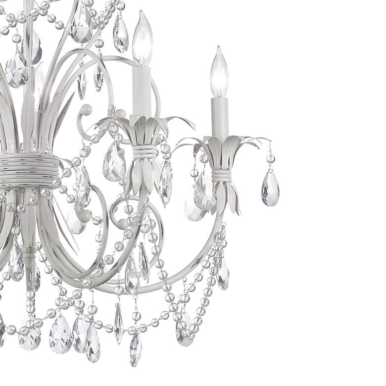Chateau Vieux Collection Antique White Five Light Chandelier more views
